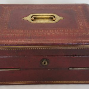 19thc Leather Writing Box