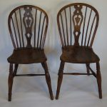 Pr 19thc Windsor Side Chairs