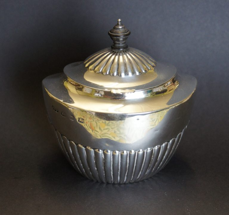 Victorian Silver Tea Caddy