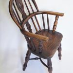 19thc Childs Lincolnshire Windsor Chair side view